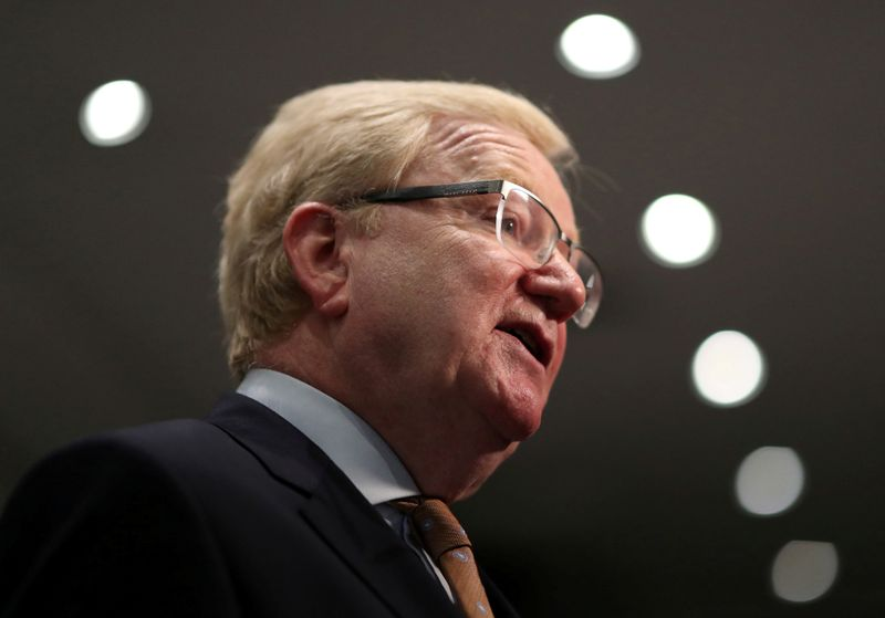 © Reuters. FILE PHOTO: Jackson Carlaw speaks at a news conference after being announced as the new leader of the Scottish Conservatives in Edinburgh, Scotland