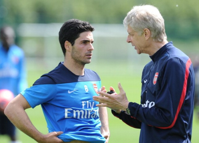 Wenger has been giving Arteta advice