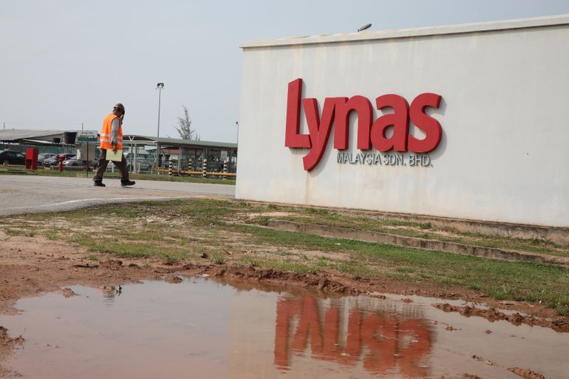 © Reuters. FILE PHOTO: A general view of the Lynas Advanced Materials Plant in Gebeng, Pahang.