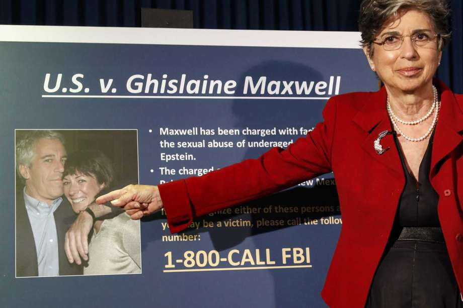 FILE - In this Thursday, July 2, 2020, file photo, Audrey Strauss, Acting United States Attorney for the Southern District of New York, gestures as she speaks during a news conference to announce charges against Ghislaine Maxwell for her alleged role in the sexual exploitation and abuse of multiple minor girls by Jeffrey Epstein, in New York. Prosecutors said in New York on Tuesday, July 28, 2020, that some witnesses in the criminal case against Maxwell may face harassment and intimidation that could be reluctant to cooperate with the government if defense attorneys are allowed to discuss them publicly. Photo: John Minchillo, AP / Copyright 2020 The Associated Press. All rights reserved.