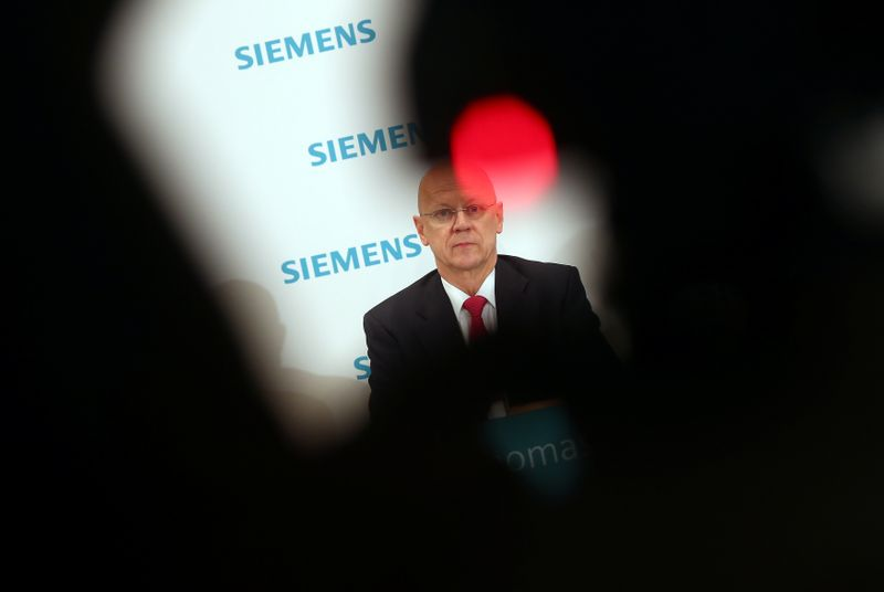 © Reuters. Siemens annual shareholders meeting in Munich