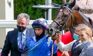 Marcus Tregoning (left) with Mohaather after winning the Summer Mile