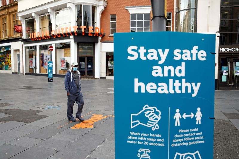 © Reuters. Outbreak of the coronavirus disease (COVID-19) in Leicester