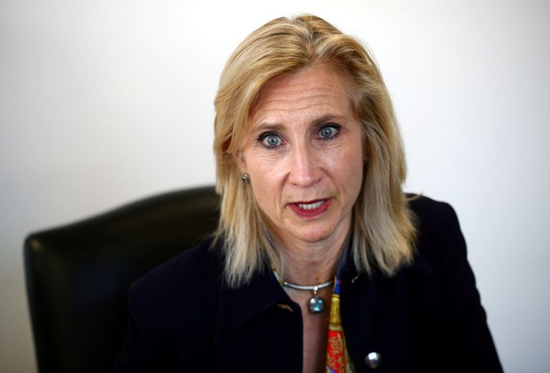 © Reuters. FILE PHOTO: Director of the Serious Fraud Office (SFO) Lisa Osofsky speaks to Reuters in London