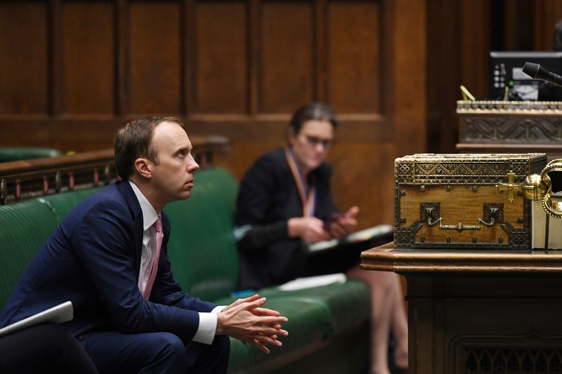© Reuters. Urgent Questions to the Secretary of State for Health and Social Care