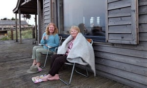 Carol Donaldson and her mother on the veranda