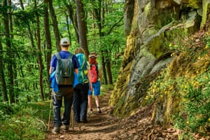 Hiking the Albsteig trail in the Black Forest.