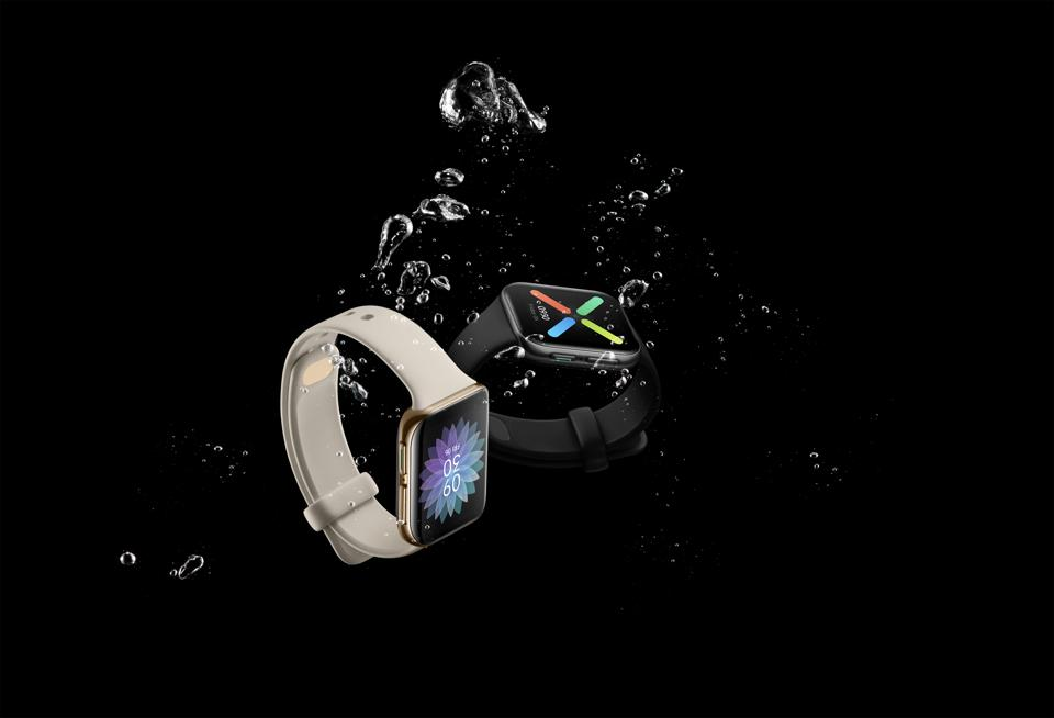Oppo Watch can survive in water to depths of 5 ATM.