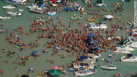 Hundreds of people celebrated the July 4 weekend at a Michigan lake. Now some have Covid-19