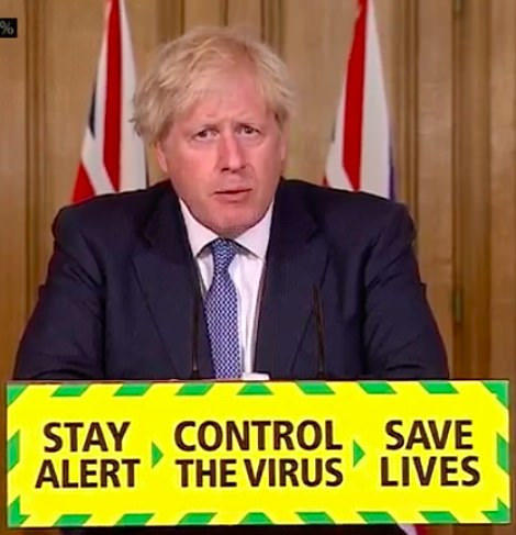 Boris Johnson today announced he is 'squeezing the brake pedal' on the easing of lockdown after an increase in coronavirus cases