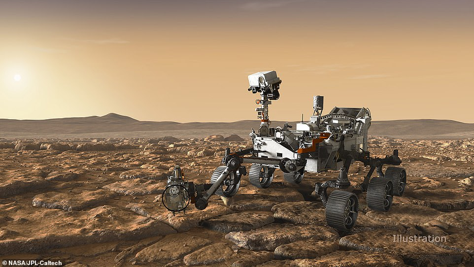 Only eight missions have been able to descend to Mars, a feat that has been described as 'seven minutes of terror.' If the rover is able to make a successful landing, it will travel to Jezero Crater, which scientists speculate was once home to a lake 3.5 billion years ago