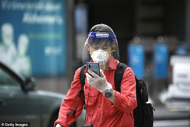 Although they don't offer as tight a seal, face shields may also help block virus from reaching the eyes, nose and mouth