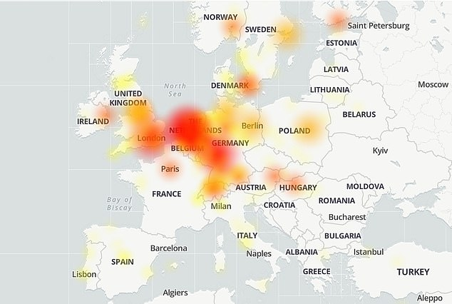 The Down Detector website which tracks reported issues for each major app logged a surge in over 12,000 complaints for Spotify today, with much of the outages concentrated in Europe