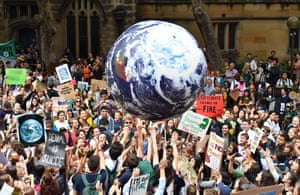 Thousands of school students from across Sydney attend the global Climate Strike rally at Town Hall in March last year