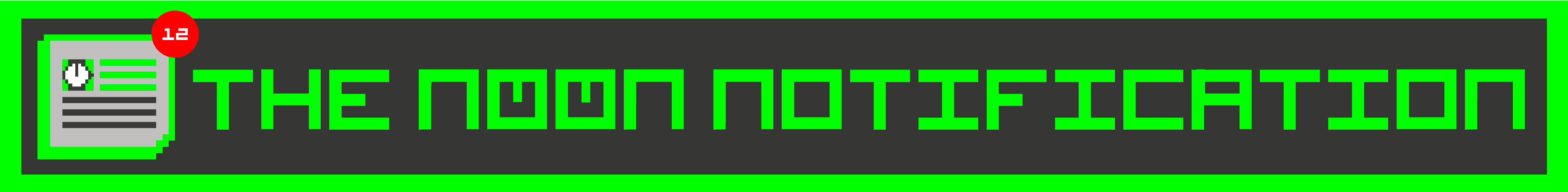 The Noonification banner
