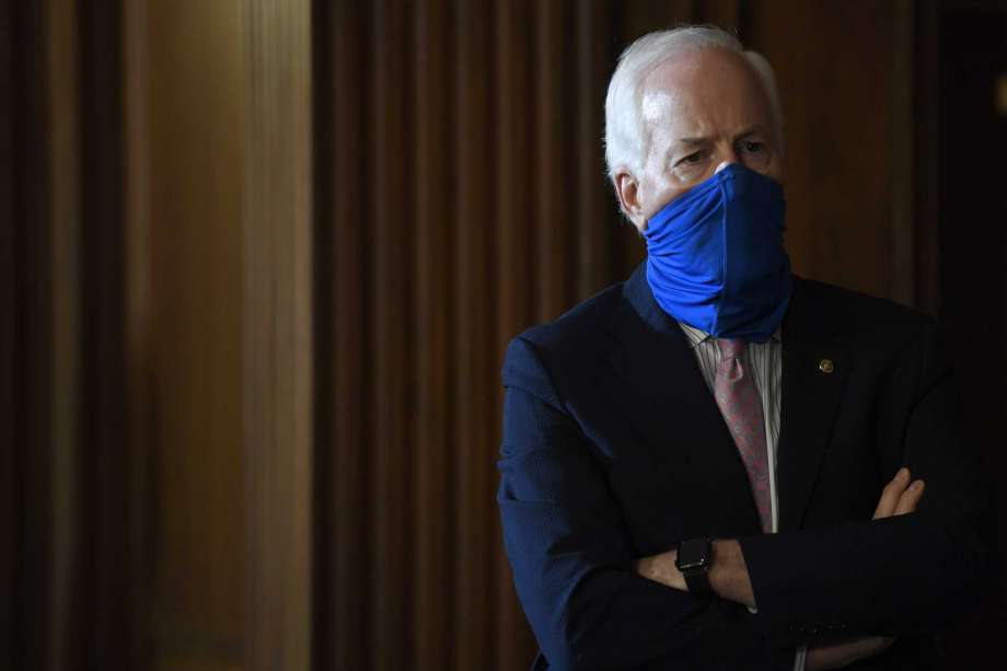 Sen. John Cornyn, R-Texas, listens during a news conference on Capitol Hill in Washington, Monday, July 27, 2020, to highlight the new Republican coronavirus aid package. Photo: Susan Walsh, AP / Copyright 2020 The Associated Press. All rights reserved.