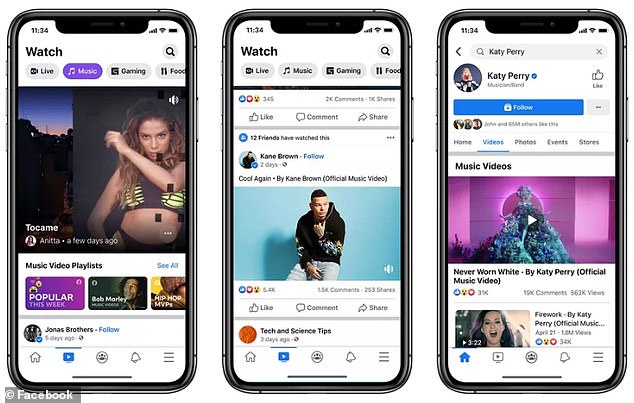 Facebook has challenged YouTube by adding licensed music videos to its social media platform.The clips will be added to Facebook Watch, as well as the artists¿ pages, allowing users to share, comment and react to
