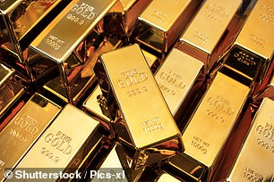 Safe haven: The price of gold has risen by more than 30 per cent this year