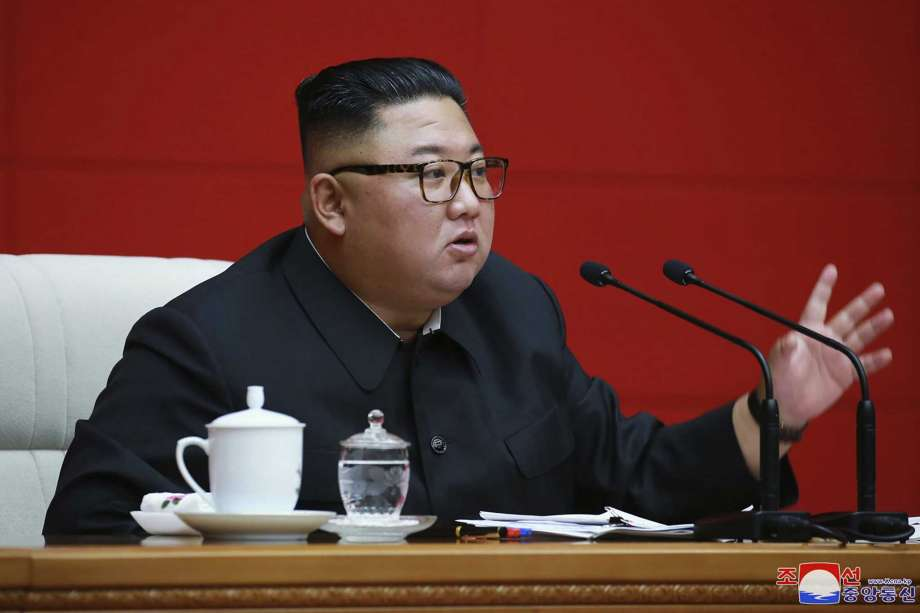 """In this photo provided by the North Korean government, North Korean leader Kim Jong Un attends a ruling party meeting in Pyongyang, North Korea, Thursday, Aug. 13 2020. Independent journalists were not given access to cover the event depicted in this image distributed by the North Korean government. The content of this image is as provided and cannot be independently verified. Korean language watermark on image as provided by source reads: """"KCNA"""" which is the abbreviation for Korean Central News Agency. (Korean Central News Agency/Korea News Service via AP) Photo: 朝鮮通信社, AP / KCNA via KNS"""