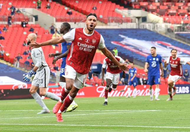 Pierre-Emerick Aubameyang scored both goals in Arsenal's FA Cup final win over Chelsea