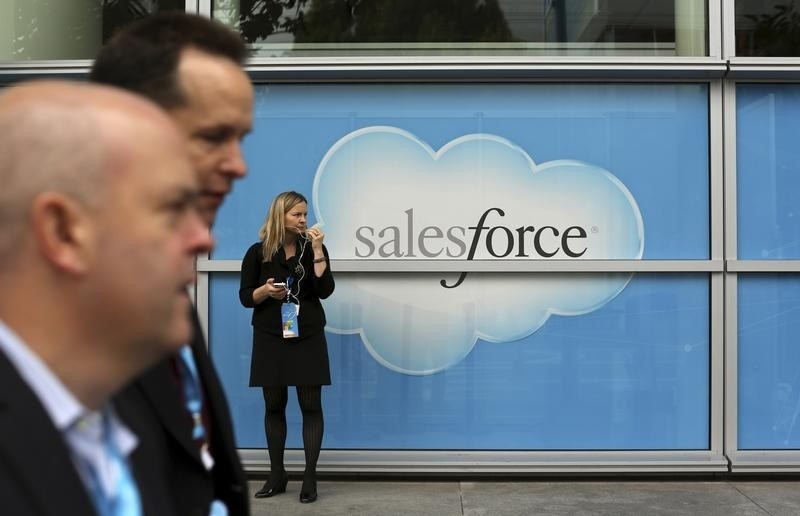 Salesforce Gains; Record First Quarter Drives Guidance Upgrade