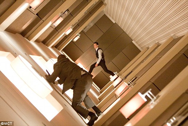 Inception (pictured) is being screened in 4DX at Cineworld from August 12. 4DX will let viewers 'feel the shake of buildings crashing down around you, the wind in your hair as though you're falling, and your chair tilt as if you're modulating gravity'