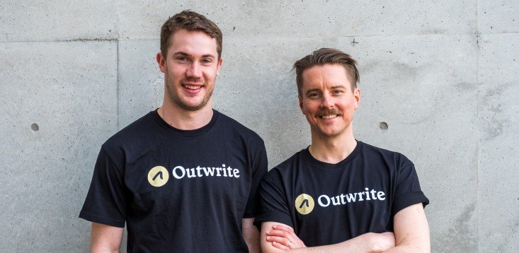 Outwrite co-founders Nick Hough Craig Sketchley