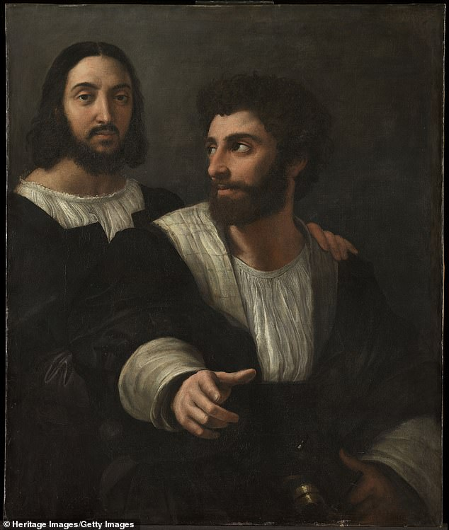 The 3D reconstruction only produced 80 percent of the original face, but the scientists say 'there is no doubt about the results.' Pictured is another self-portrait by Raphael