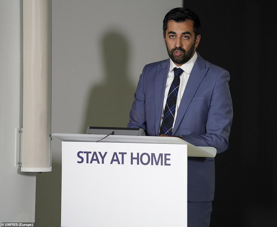 In a statement this afternoon, SNP justice minister Humza Yousaf said: 'This decision is based on the latest available data from the Joint Biosecruity Centre and it gives another clear indication that the virus is active and still spreading'