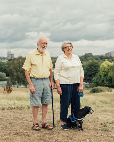 'We've been coming to Springfield Park for 41 years': Alfred and Carolyn Poole with their dog, Basil.
