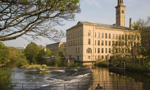 Saltaire mill and the River Aire