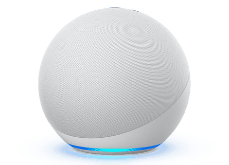 The new 2020 Amazon Echo is a fabric covered ball with improved sound.