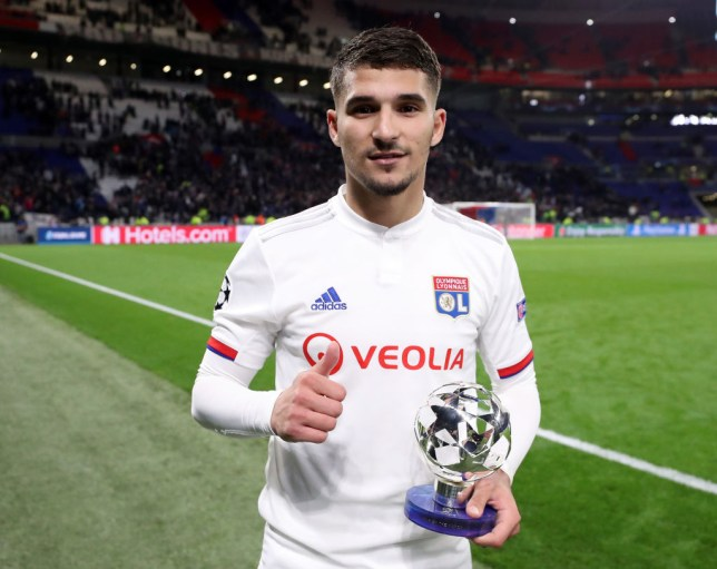 Arsenal are keen to sign Lyon midfielder Houssem Aouar this summer