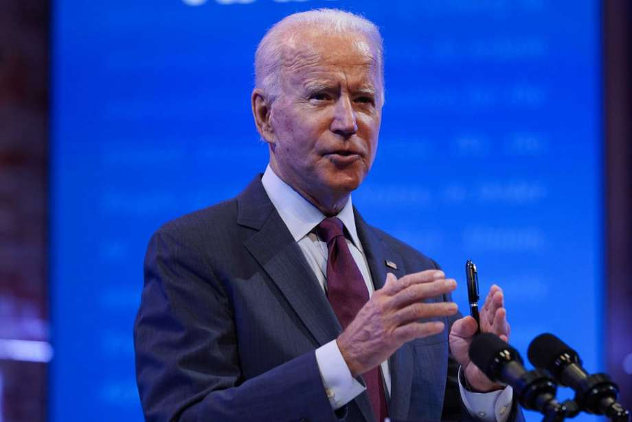 Democratic presidential candidate former Vice President Joe Biden gives a speech on the Supreme Court at The Queen Theater, Sunday, Sept. 27, 2020, in Wilmington, Del. Photo: Andrew Harnik, AP / Copyright 2020 The Associated Press. All rights reserved