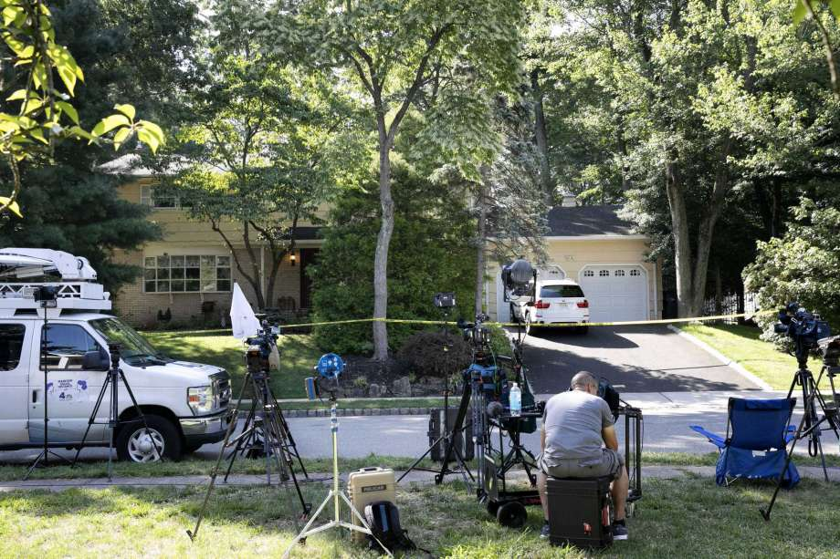 News media is set up in front of the home of U.S. District Judge Esther Salas, Monday, July 20, 2020, in North Brunswick, N.J. In the wake of the fatal shooting of a federal judge's son in New Jersey, bi-partisan legislation seeks to restrict online access to judges' personal information. Democratic New Jersey Sen. Bob Menendez announced the Daniel Anderl Judicial Security and Privacy Act on Monday, Sept. 28, 2020. Photo: Mark Lennihan, AP / Copyright 2020 The Associated Press. All rights reserved
