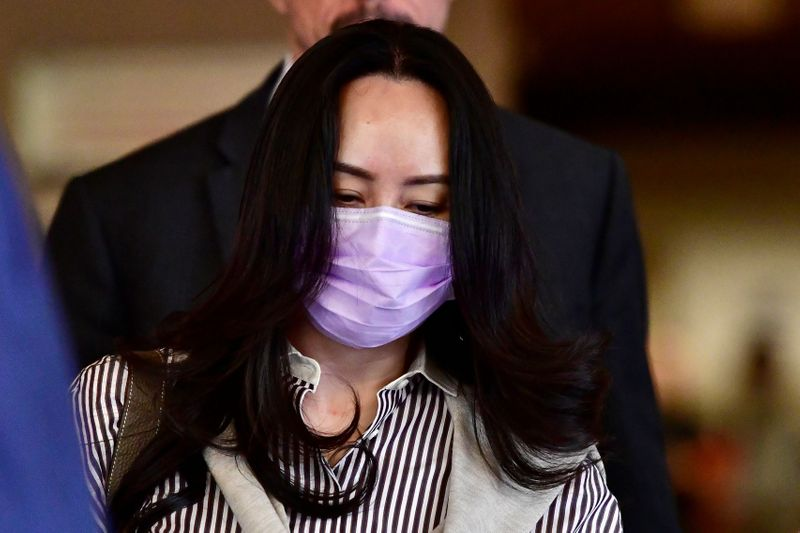 © Reuters. Huawei Technologies Chief Financial Officer Meng Wanzhou leaves a court hearing in Vancouver