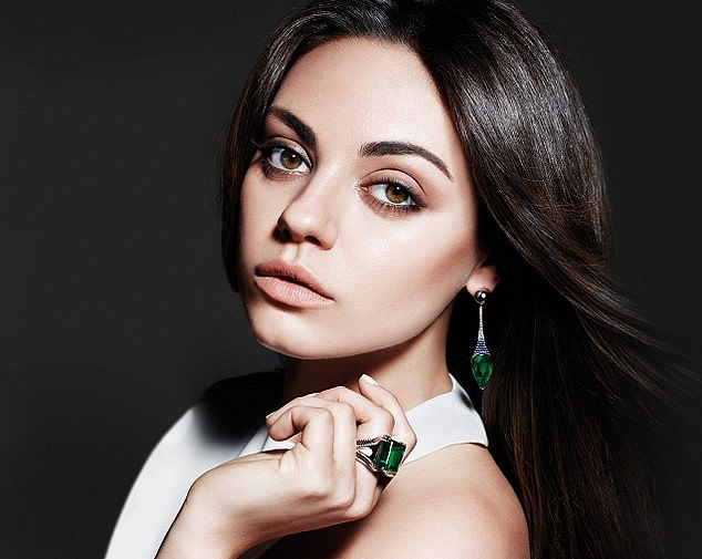 Sales slump: Faberge-owner Gemfields, which has counted celebrities such as actor Mila Kunis (pictured) among its celebrity ambassadors, said turnover had tumbled 83 per cent