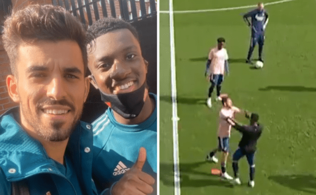 Dani Ceballos speaks out after fight with Arsenal teammate Eddie Nketiah during warm up