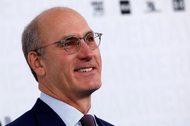 © Reuters. FILE PHOTO: John Stankey, CEO of WarnerMedia poses as he arrives at the WarnerMedia Upfront event in New York