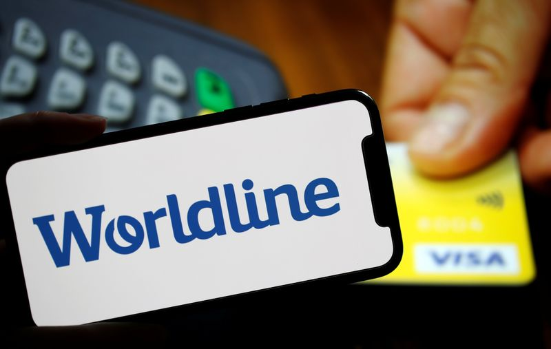 © Reuters. Illustration picture shows a logo of payments company Worldline