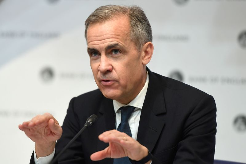 © Reuters. FILE PHOTO: Mark Carney, Governor of the Bank of England (BOE) attends a news conference at Bank Of England in London