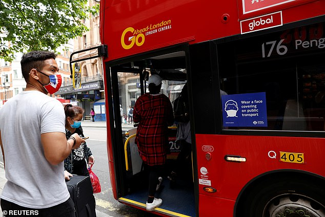 Hard road: Passenger numbers on buses and trains plummeted during the virus lockdown, with usage recovering in recent weeks but still remaining far below normal levels