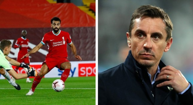 Gary Neville was critical of Mohamed Salah during Liverpool's victory over Arsenal