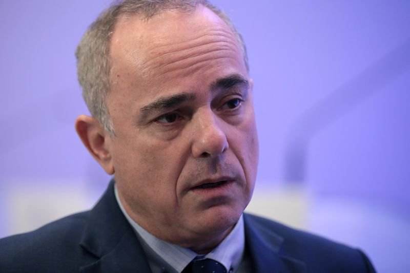 © Reuters. FILE PHOTO: Israeli Energy Minister Yuval Steinitz speaks during an interview with Reuters in Athens