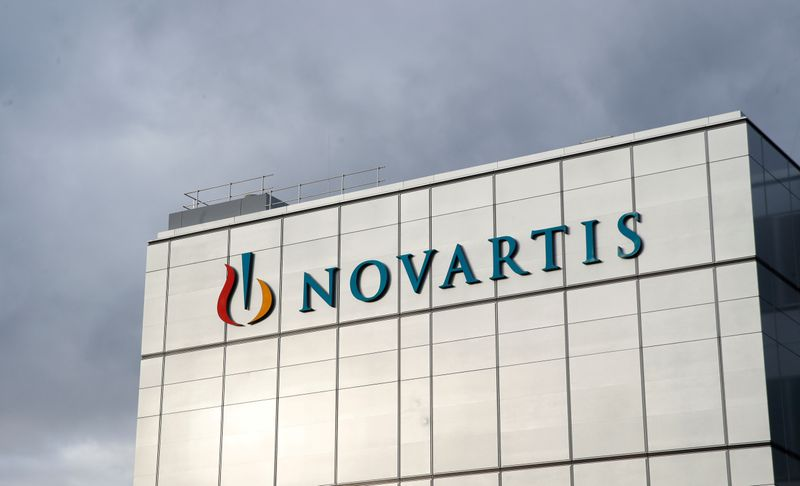 © Reuters. FILE PHOTO: Logo is seen at new factory of Novartis in Stein
