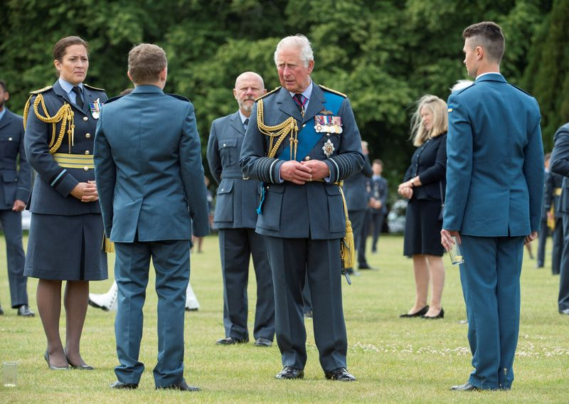 © Reuters. FILE PHOTO: Britain's Prince Charles attends Graduation Ceremony at RAF College Cranwell
