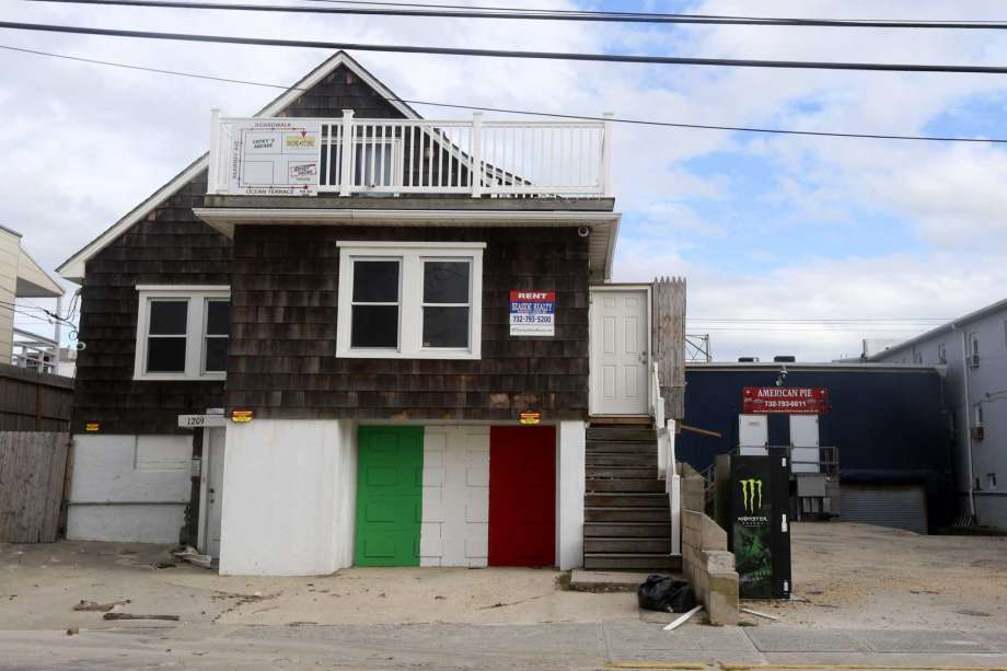 """FILE - In this Oct. 31, 2012, file photo, the unoccupied house made famous by the cast of MTV is shown in Jersey Seaside Heights, N.J. On Wednesday, Sept. 16, 2020, New Jersey Gov. Phil Murphy said that the YouTube stars who rented out the """"Jersey Shore"""" house on Sept. 14, should """"be taken to task"""" after an estimated 1,000 people showed up, many flouting COVID-19 social distancing rules. Photo: Julio Cortez, AP / Copyright 2020 The Associated Press. All rights reserved."""