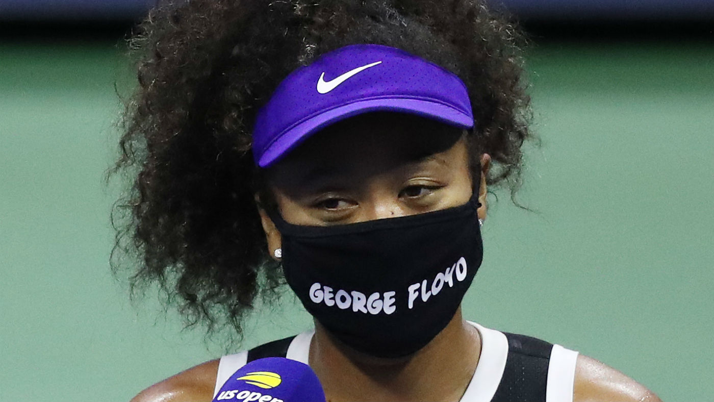 Naomi Osaka wore a mask with George Floyd's name on it at the US Open