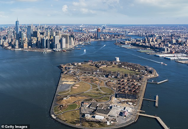 Pictured is a current picture of Governors Island
