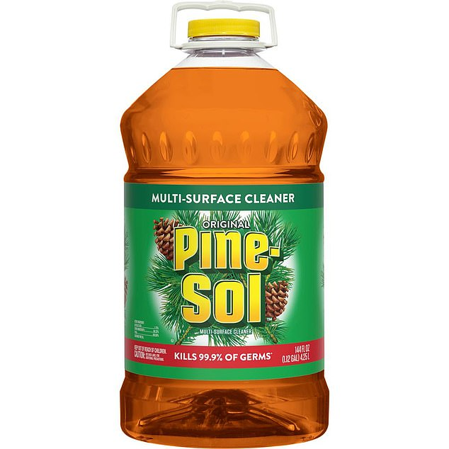 Pine-Sol Original Multi-Surface Cleaner was found effective against the virus on 'hard non-porous surfaces' after letting it stand for 10 minutes by a third-party laboratory, The Clorox Company said.
